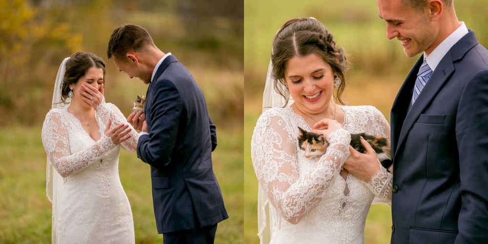 Guy Who 'Doesn't Want Pets' Finally Gives In On His Wedding Day