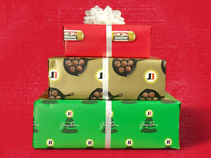 jimmy dean exchange christmas holiday wrapping paper sausage