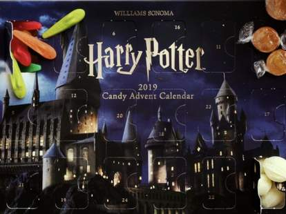 william sonoma advent calendar harry potter holiday christmas candy