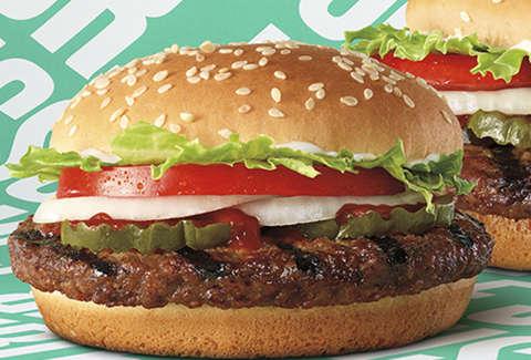 burger king impossible foods whopper new cheeseburger jr