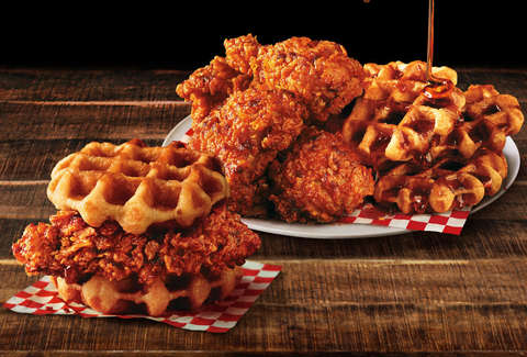 kfc nashville chicken and waffles spicy new menu item