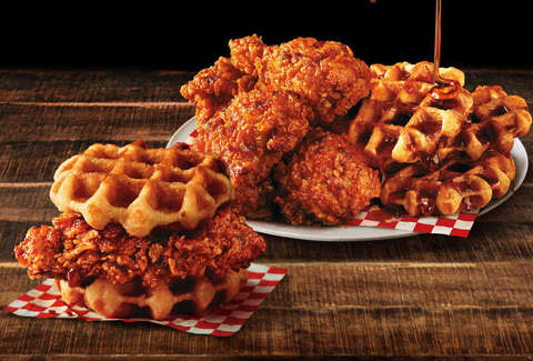 kfc nashville hot chicken and waffles sandwich new taste test