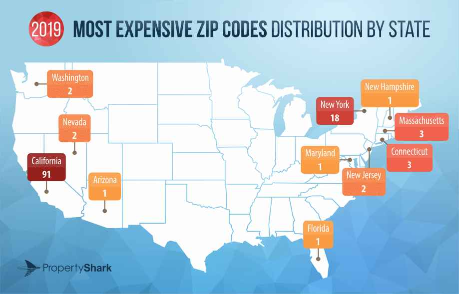 These Maps Reveal the Most Expensive Zip Codes in the U.S.