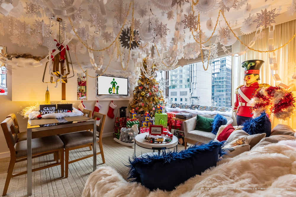 This 'Elf'-Inspired Hotel Suite IS Fully Stocked With Candy and Cookie Dough