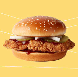 mcdonald's spicy bbq chicken sandwich