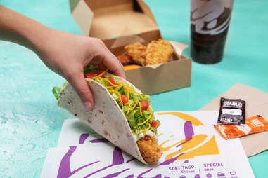 taco bell crispy tortilla chicken new