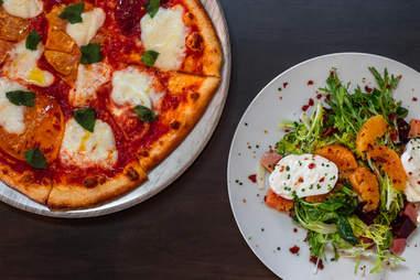 Rattlesnake Club pizza and salad
