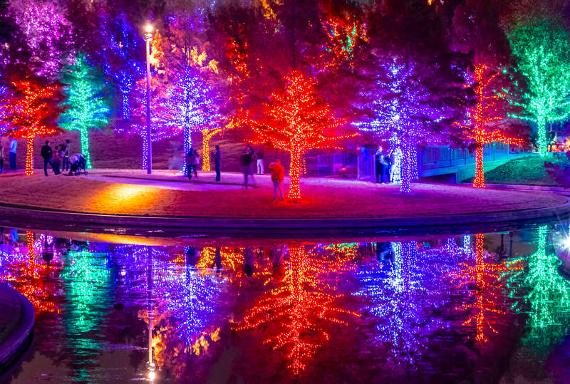 Christmas Lights at Vitruvian Park