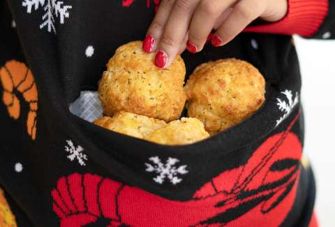 red lobster cheddar bay biscuits ugly christmas sweater holiday