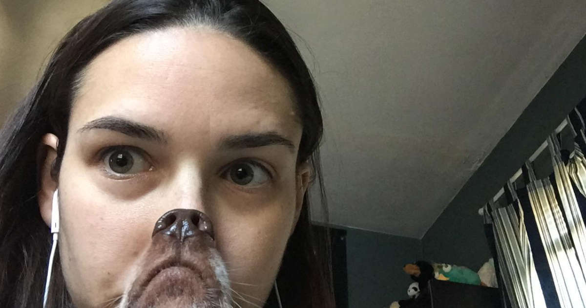 Woman Takes A Photo With Her Dog And It Goes Hilariously Wrong