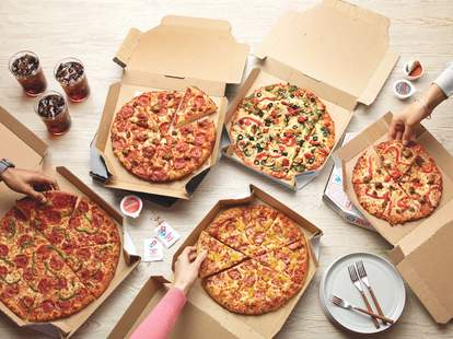 dominos half price pizza