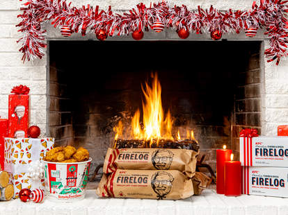 kfc fire log for sale herbs and spices christmas holiday
