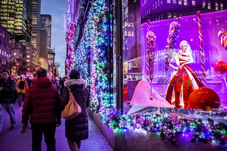 Saks Fifth Avenue window display