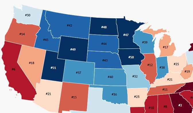 Here Are the Worst States for Millennials Right Now