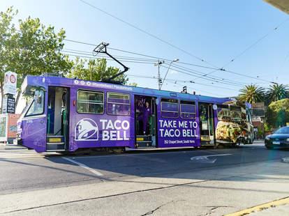 taco bell tram thru australia melbourne