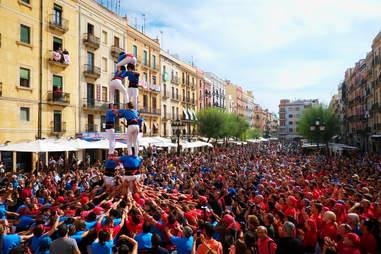 Tarragona human tower