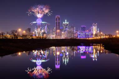 Fireworks Reunion Tower Dallas