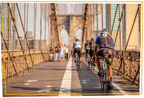 Cycling on Brooklyn Bridge