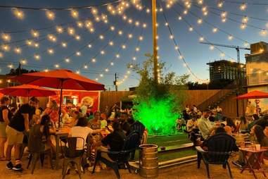 social beer garden