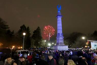 Prospect Park New Year's Eve fireworks