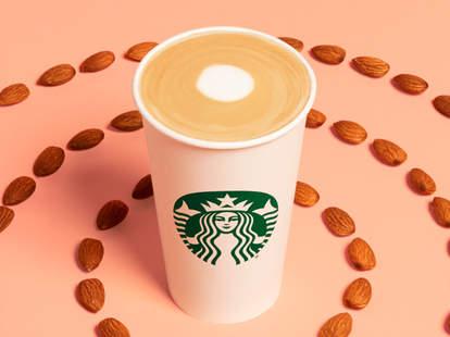 starbucks new honey almond flat white latte coconut milk non dairy