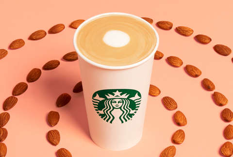 starbucks new honey almond flat white latte coconut milk non dairy