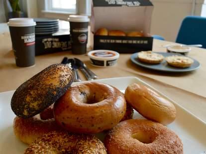 free Bruegger's bagels