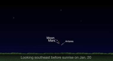 Antares Mars Moon