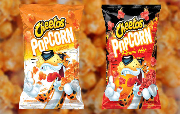 We Tried Cheetos' New Cheddar & Flamin' Hot Popcorn Flavors. Here's What We Thought.