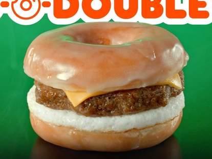 dunkin donut beyond meat sausage sandwich breakfast snoop dogg