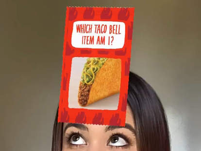 taco bell instagram filter which menu item are you