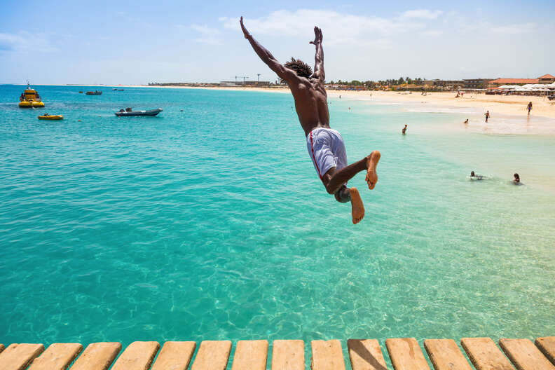Santa Maria Beach in Sal Cape Verde