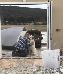 Woman finds dog after tornado destroys home