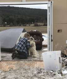 Woman reunites with dog after tornado in Arkansas