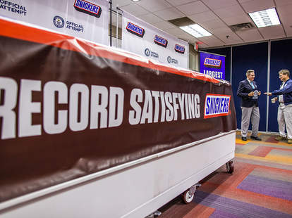 snickers giant chocolate bar guinness world records record nuts