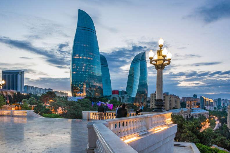 Flame Towers of Baku, Azerbaijan