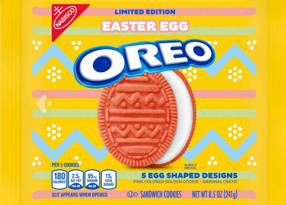 Oval-Shaped Pink Easter Egg Oreos are Returning to Grocery Stores