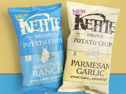 kettle brand potato chips new flavors flavor farmstand ranch garlic parmesan