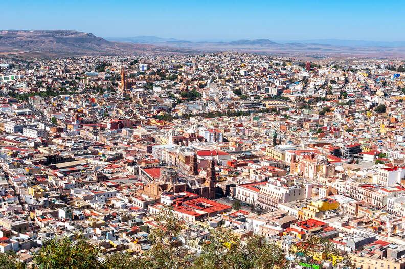 view of Zacatecas from La Bufa Hill, Mexico