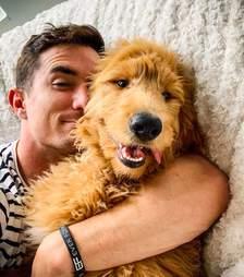 Maxx Chewning and his dog Dood