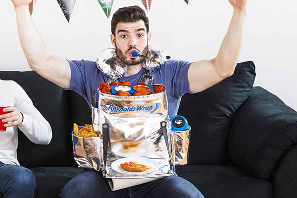 Reynolds Wrap's 'Hunger Harness' Straps an Entire Buffet to Your Chest