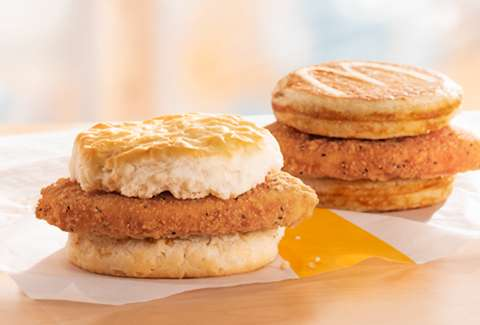 mcdonald's new chicken mcgriddle mcchicken biscuit breakfast items mickey dees
