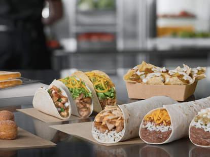 del taco value menu menus burritos dollar cheap tacos chicken queso nachos