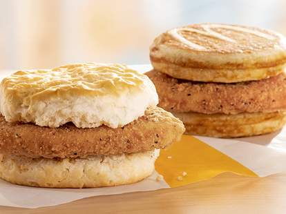mcdonald's mcchicken breakfast sandwich biscuit mcgriddle chicken