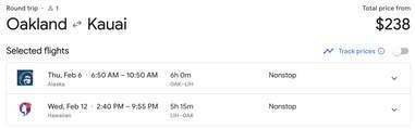 Hawaii flight sale