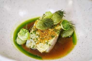 Aquavit poached cod