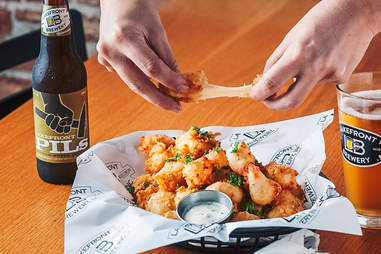 Lakefront Brewery cheese curds, Milwaukee