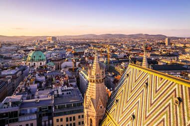 views of Vienna, Austria from St. Stephen's Cathedral
