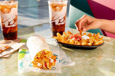 taco bell buffalo chicken nacho fries cheese spicy burrito new item promotion