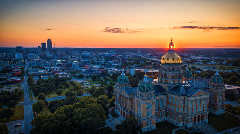 view from iowa capitol dome